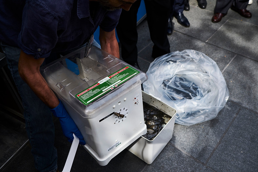 Each rat-trapping bucket costs between $300 and $400. Credit John Taggart for The New York Times