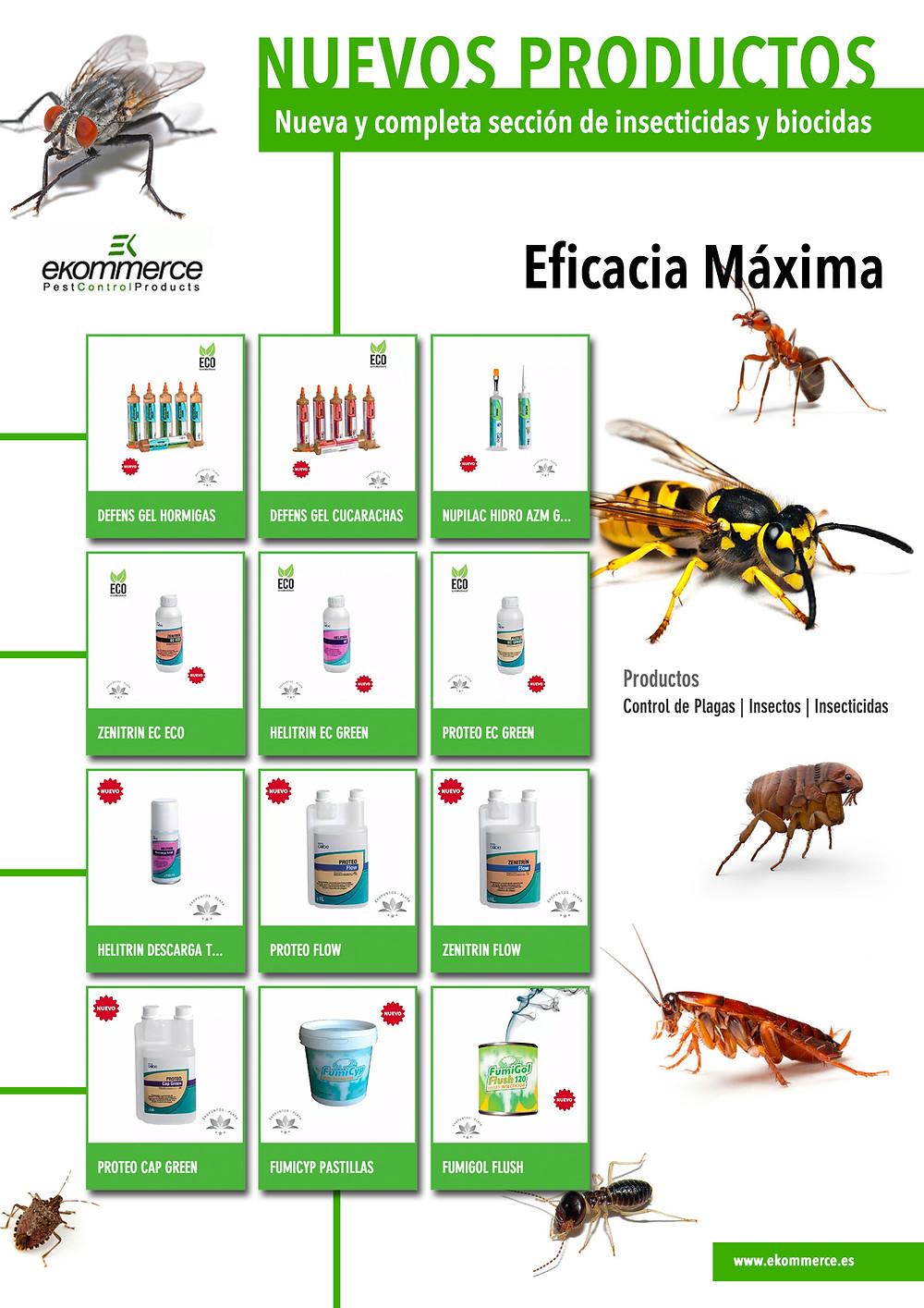 Nuevos Insecticidas y Biocidas Ekommerce