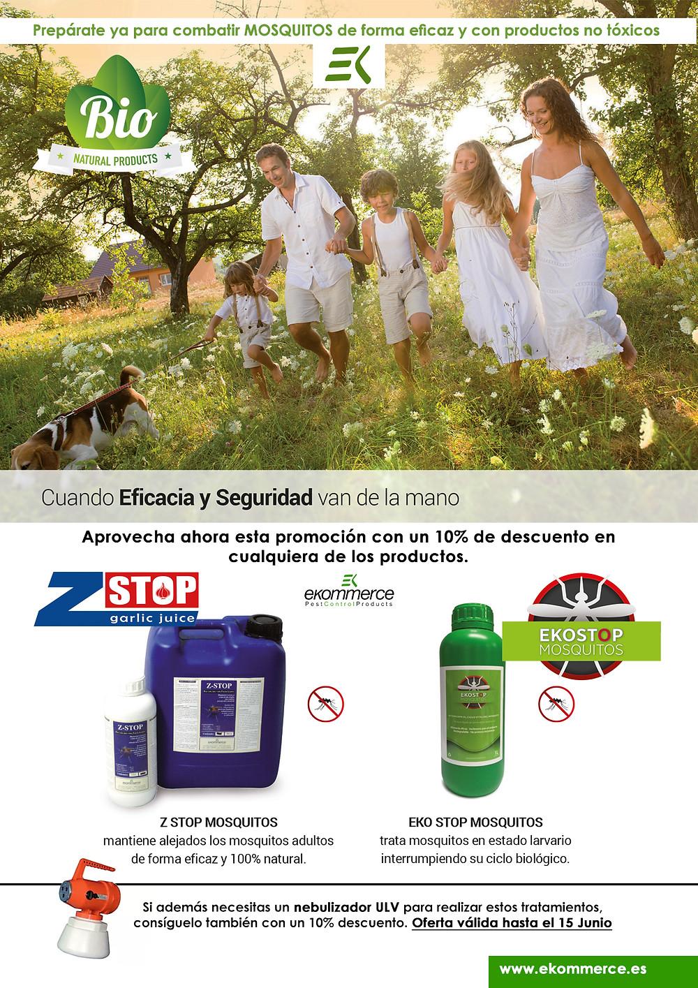 Ekostop Mosquitos y Z-Stop Garlic Juice