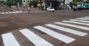 Caxambu do Sul: Iniciada pintura de sinalização em ruas