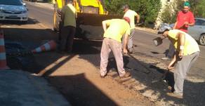 São Carlos: Operação tapa-buracos foi realizada