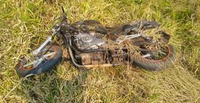Palmitos: Motociclista ferido grave em acidente na SC 283