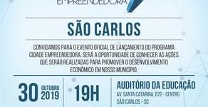 Cidade Empreendedora e Noite Cultural são destaques desta quarta-feira, em São Carlos