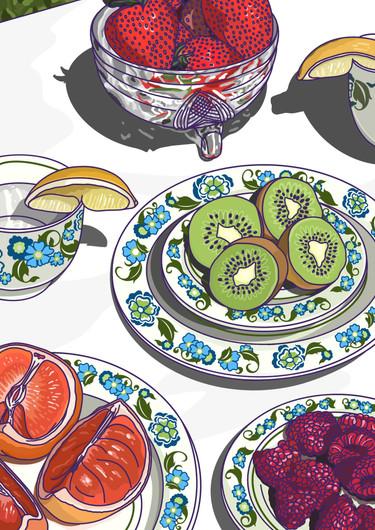 Food Illustration - Afternoon Tea