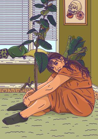 Alice L Clark Plant Hugger Lockdown Illustration