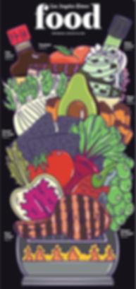 Alice Clark LA Times Cover Food Editorial Illustration