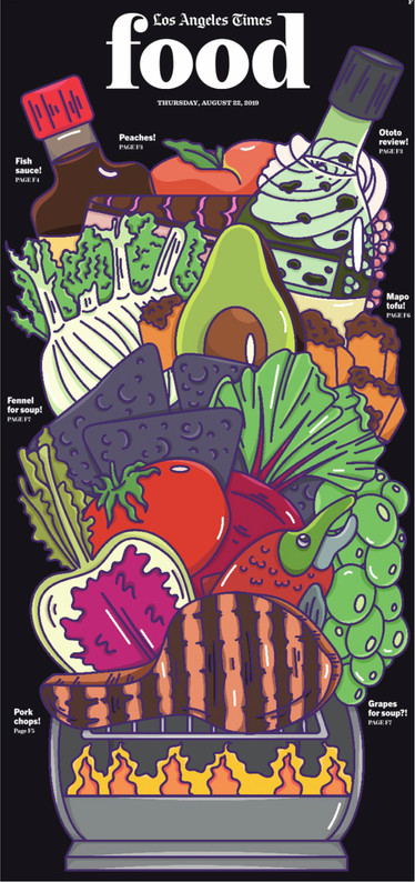 The LA Times Food - Cover Illustration