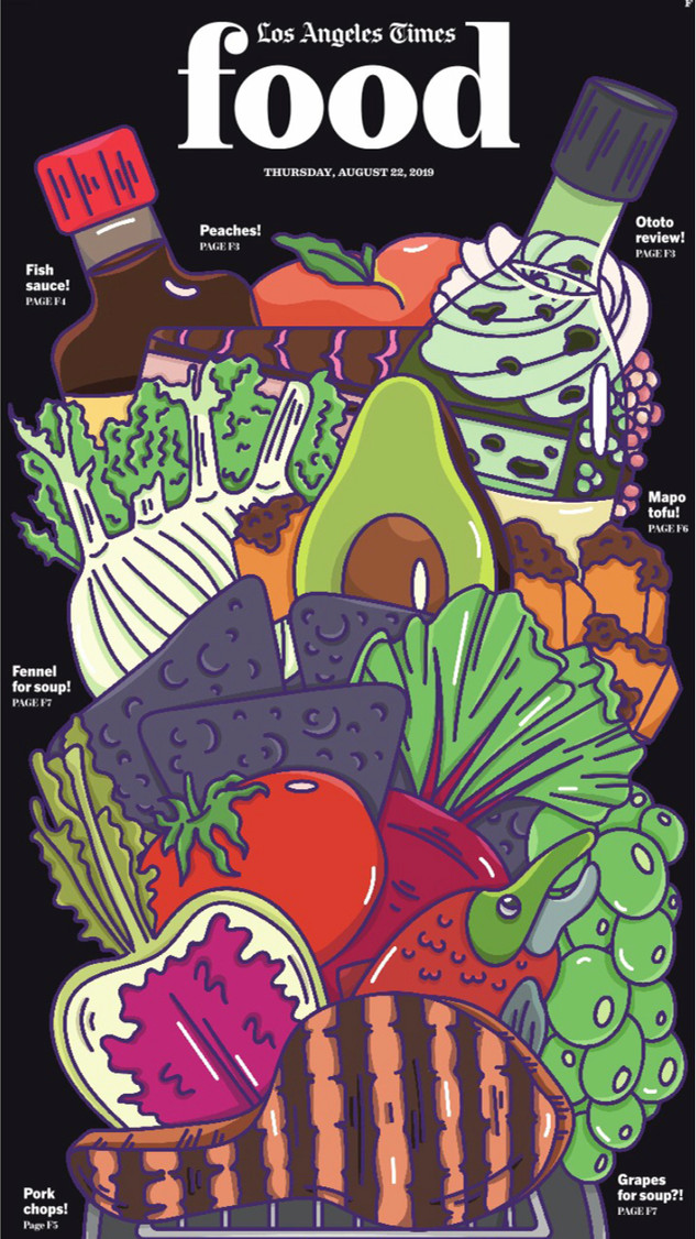 Alice L Clark The LA Times Food Cover Illustration