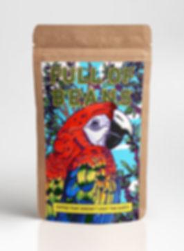 Full of Beans Coffee Bean Packaging Design
