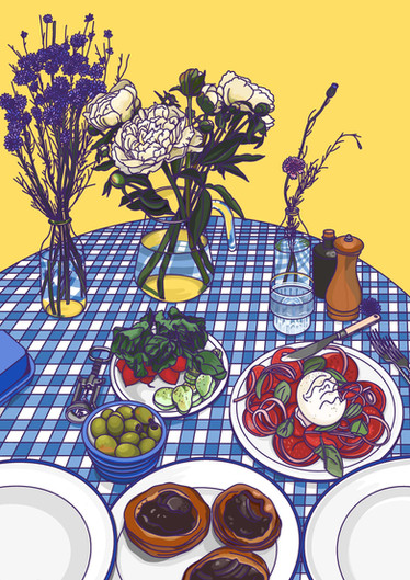 Food Illustration - Summer Lunch