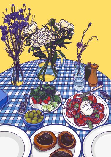 Food Illustration - Summer Lunch