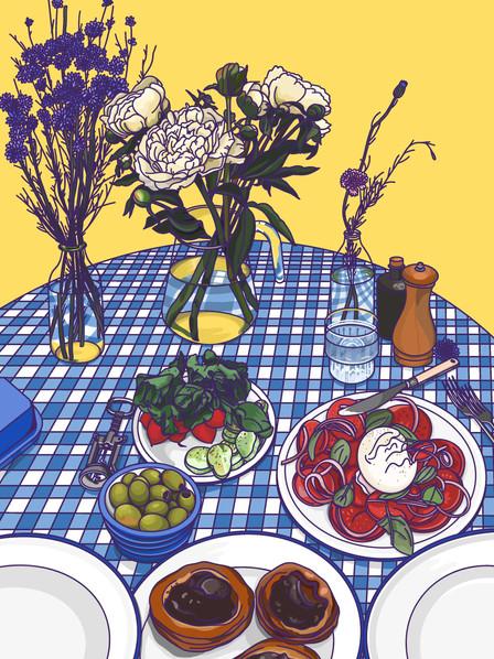 Alice L Clark Food Illustration Summer Lunch