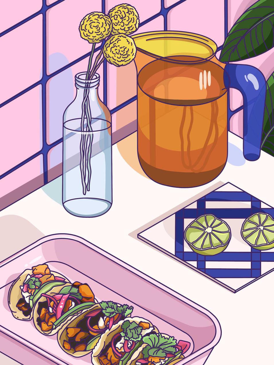 Alice L Clark Food Illustration Tacos