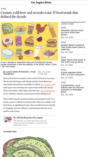 Alice L Clark The LA Times Food Illustration