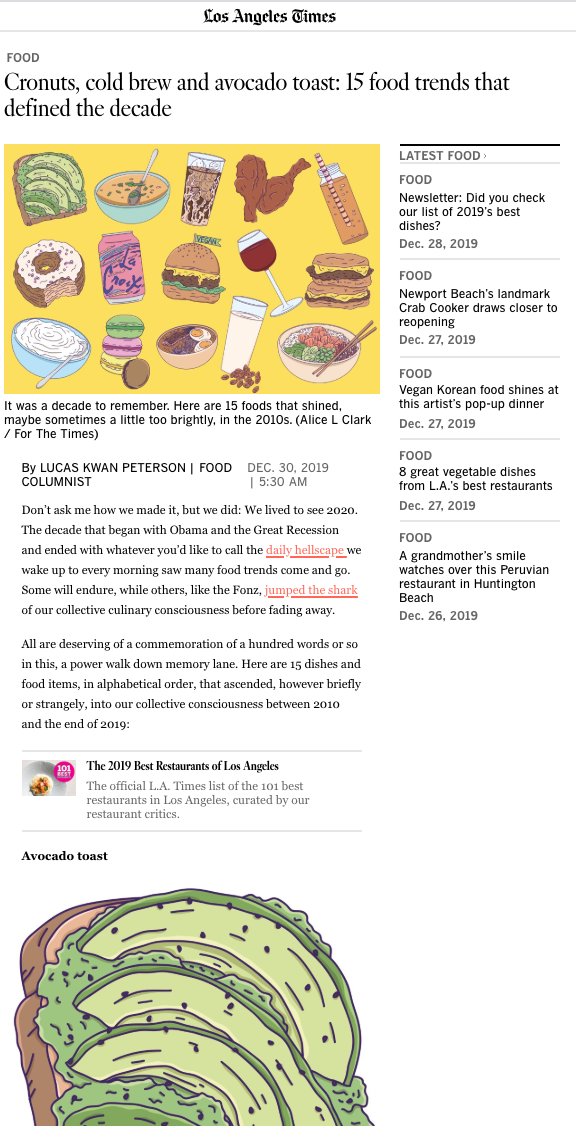 Alice L Clark The LA Times Food Illustration
