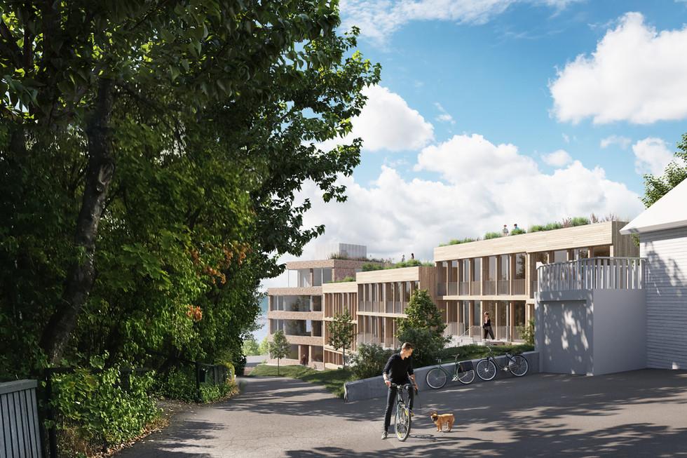 Nytt planforslag fra Scandinavian Development for Kirkehaugsveien 2-4 på Lysaker