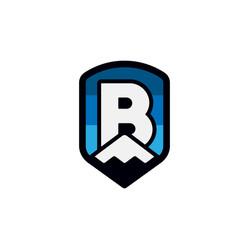 Logo for a fictional ski resort named Brass Peak