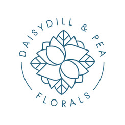 Logo for Daisy Dill & Pea Florals, a small floral shop based in Salem Oregon
