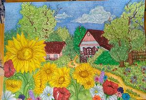 7 Соняхи, як біле сонце, біля хати навесні садила моя мати... Максименко Аліна Запорізька