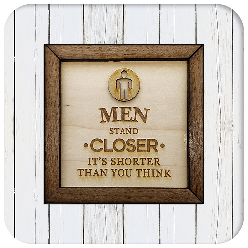 Men stand