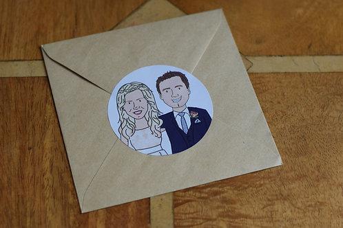 Cartoon Couple Stickers (x30)