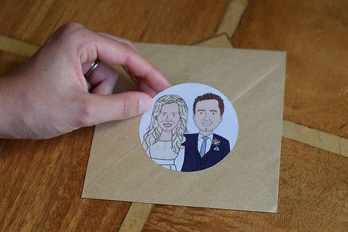 Cartoon Couple Stickers (x60)