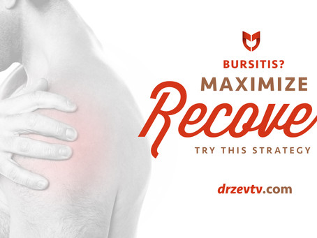 Bursitis? Try this strategy to maximize recovery