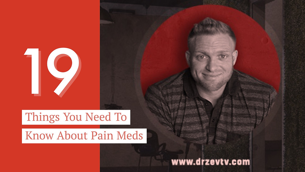 Truth About Pain Meds By Davie FL Chiropractor Dr. Zev