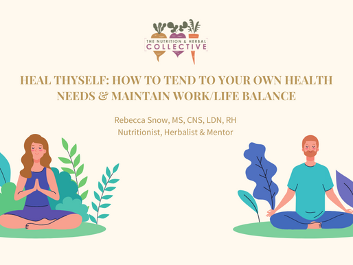 HEAL THYSELF: HOW TO TEND TO YOUR OWN HEALTH NEEDS AND MAINTAIN WORK/LIFE BALANCE