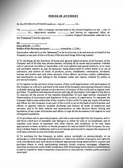 Power of Attorney (General, English) / Генеральная доверенность (Английское право) | www.smart-lawyer.ru
