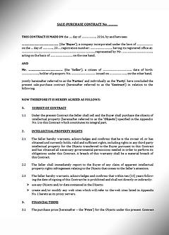 Sale-Purchase Contract - Websites & Database - English (www.smart-lawyer.ru)