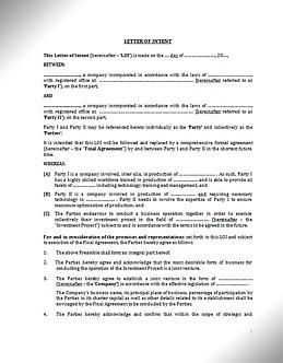 Letter of Intent (English, LoI) / Соглашение о намерениях (Англ.) | www.smart-lawyer.ru
