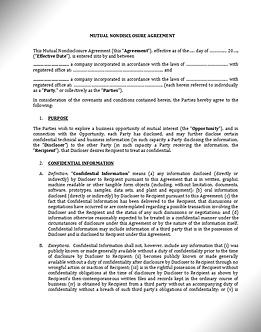 NDA (Mutual, English) / Соглашение о конфиденциальности - Взаимное (Англ.) | www.smart-lawyer.ru