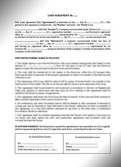 Loan Agreement (English) / Договор займа (Англ.) | www.smart-lawyer.ru