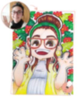 RRSS caricatura mia conchas y hojas web-