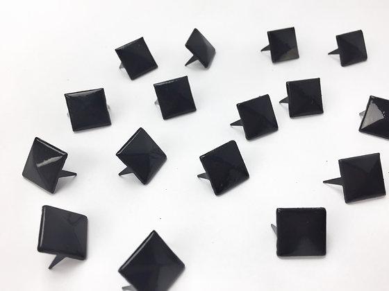 Clous pyramide noir / lot de 10