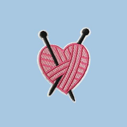 Patch thermocollant Coeur de tricot