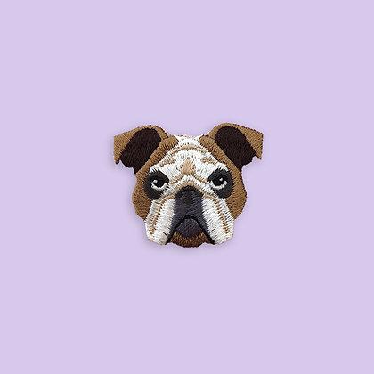 Patch thermocollant tete de chien Bulldog