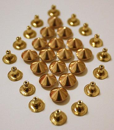 Clous conique rivet doré