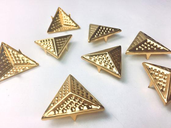 Clous triangle doré XL / lot de 10