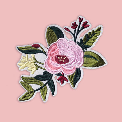 Patch thermocollant bucolique rose