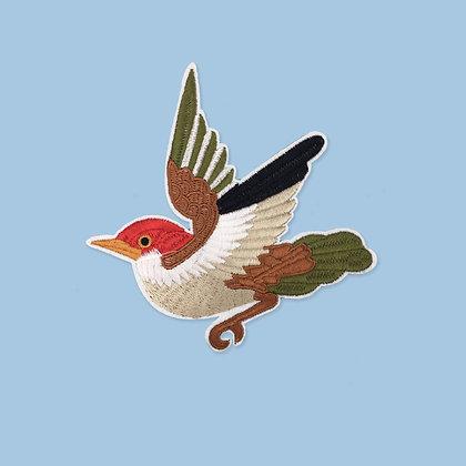 Patch thermocollant oiseau vert