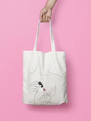 Tote bag minimaliste : Distinguée