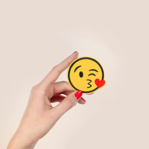 Patch Thermocollant Emoji Bisou