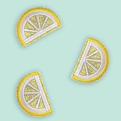 Patch thermocollant citron paillettes