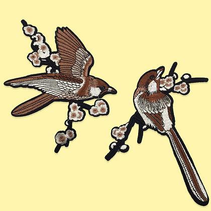 Patch thermocollant oiseau moineau