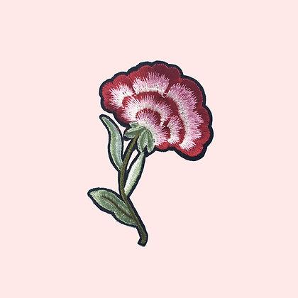 Patch thermocollant fleur rouge et blanche