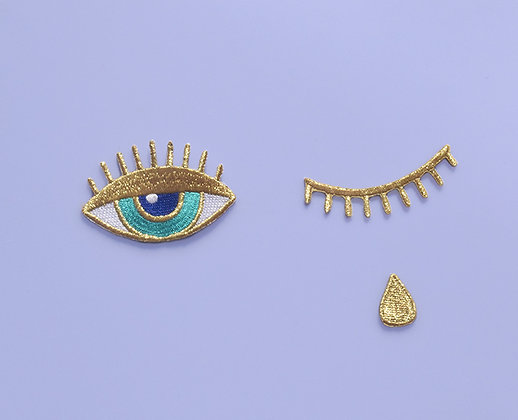 Broderie thermocollante Gold Trio Eye