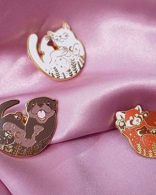 pins loutre panda roux chat blanc cat my