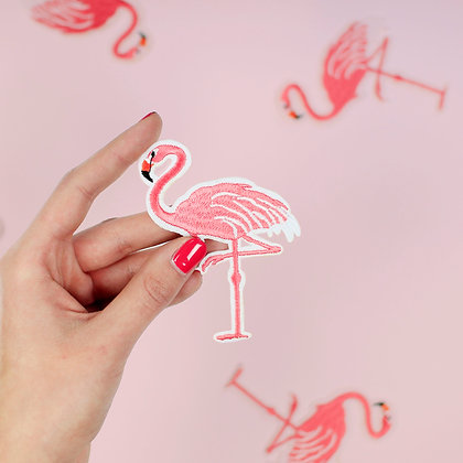 Patch thermocollant flamant rose